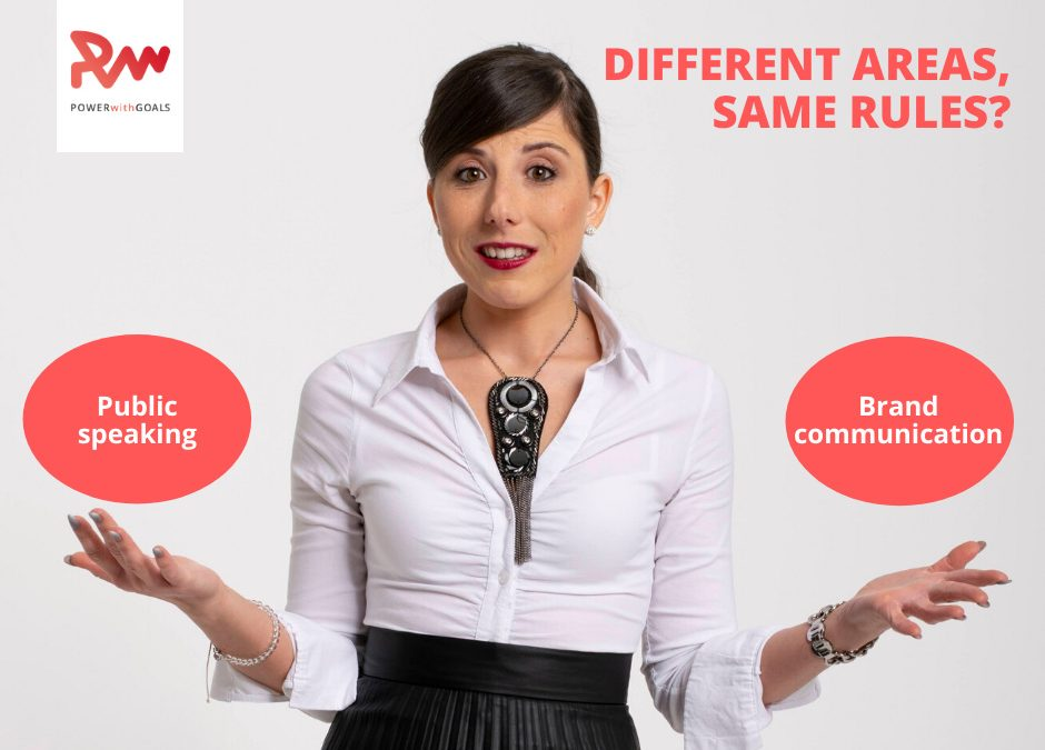 Public speaking - brand communication: different areas same rules blog post